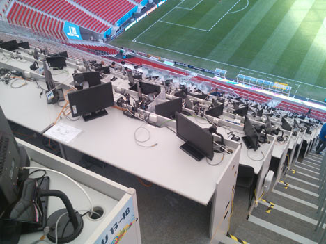 """Media's Corner"", @ FIFA World Cup 2014, Brasil"